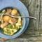 Pimp my meal: Hähnchenstreifen mit einem gesunden Apfel-Sellerie-Salat.