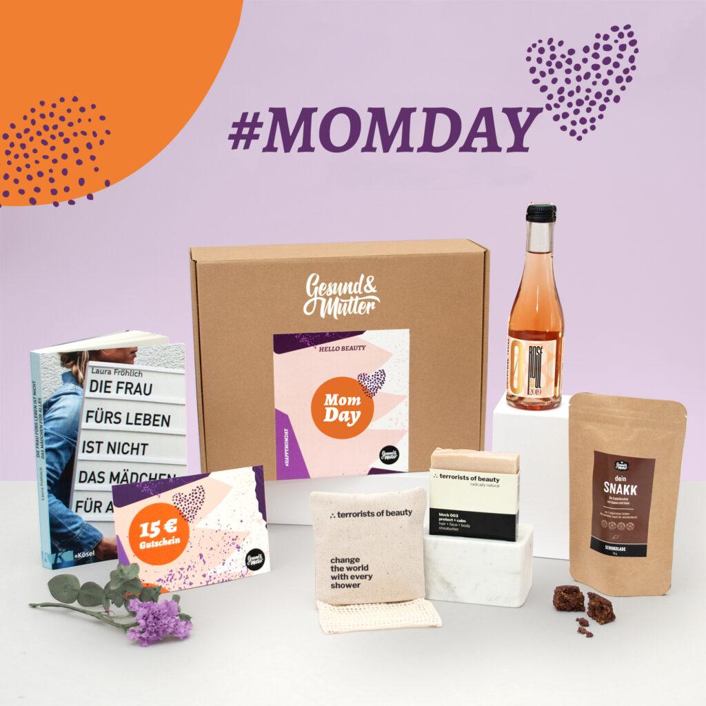 Tipp für Geschenke zur Geburt für die Mutter: die Mom Day-Box