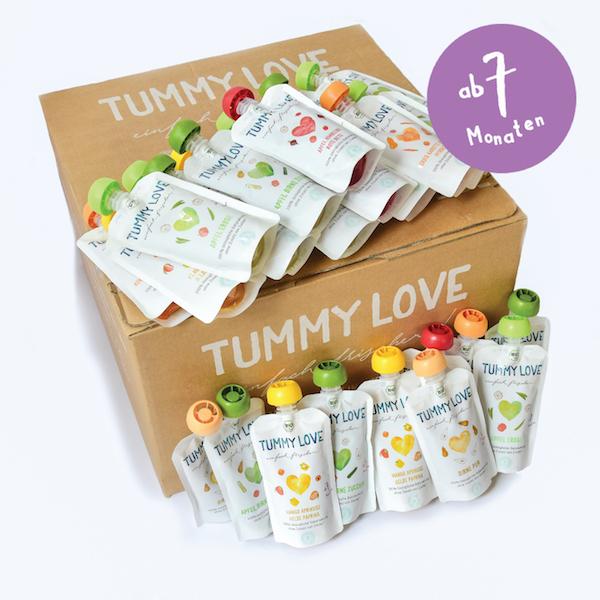 babybei im praktischen quetsch beutel von tummy love 24 st ck gesund mutter. Black Bedroom Furniture Sets. Home Design Ideas