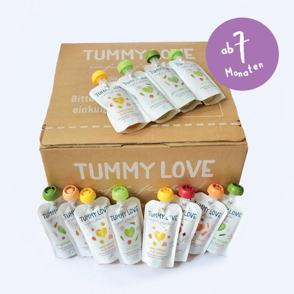 babybei im praktischen quetsch beutel von tummy love 15 st ck gesund mutter. Black Bedroom Furniture Sets. Home Design Ideas